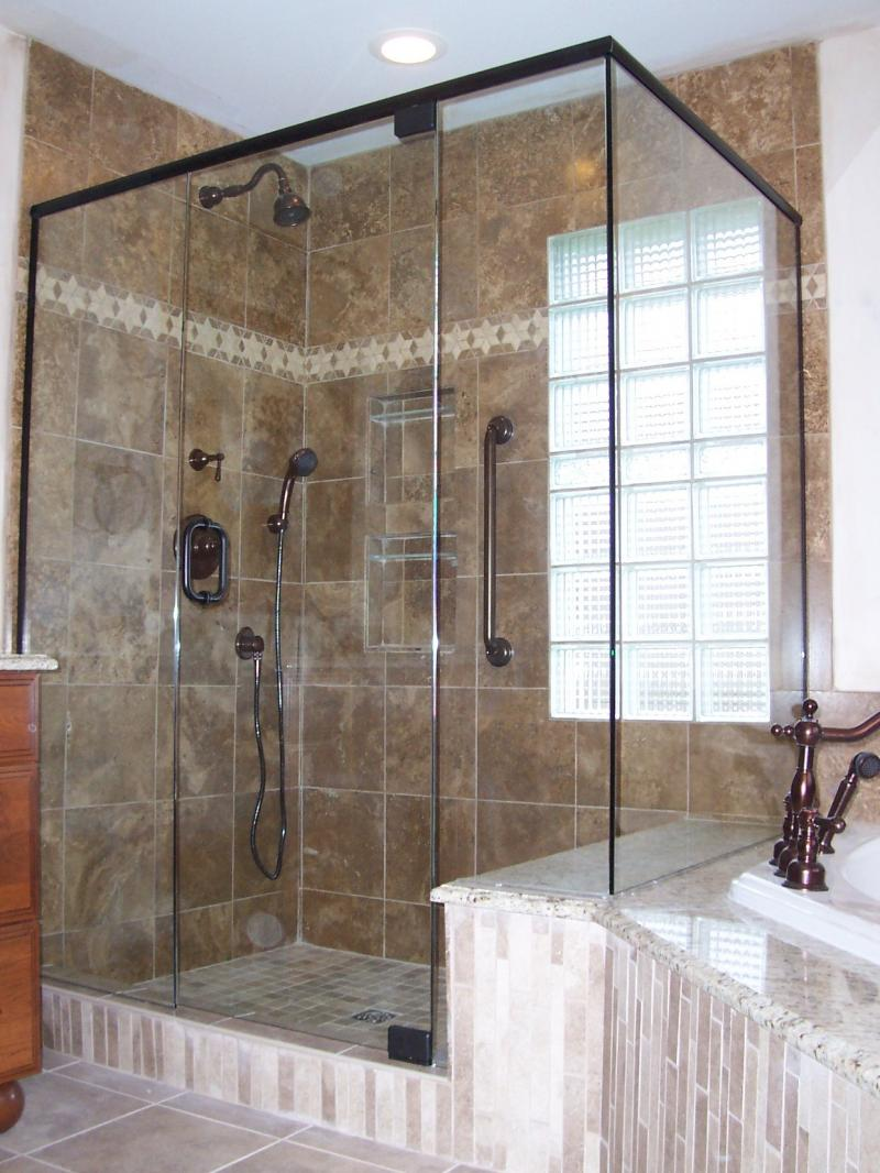Anb custom glass gallery here we have a custom right angle enclosure composed using 38 thick tempered safety glass door has a six inch handle and is supported by a pair of top planetlyrics Gallery